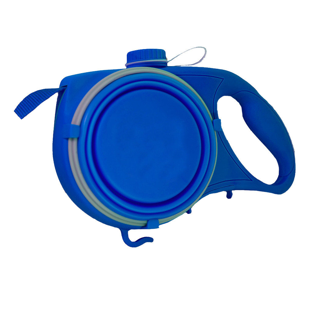 Durable Dog Leash Automatic Retractable Nylon Dog Leash With Water Bottle Bowl