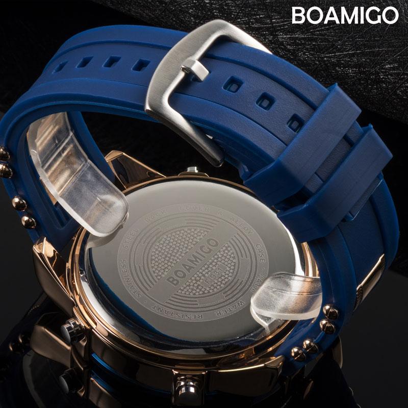 BOAMIGO Mens Watches Top Luxury Brand Men Sports Watches Men s Quartz LED Digital 3 Clock BOAMIGO Mens Watches Top Luxury Brand Men Sports Watches Men's Quartz LED Digital 3 Clock man Male Wrist Watch relogio masculino