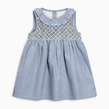 Little maven 2020 new summer baby girls clothes brand dress kids cotton animal applique sleeveless flower sundress(China)