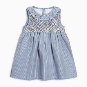 Little maven 2020 new summer baby girls clothes brand dress kids cotton animal applique sleeveless flower sundress(China)