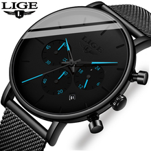 Relogio Masculino LIGE Mens Watches Top