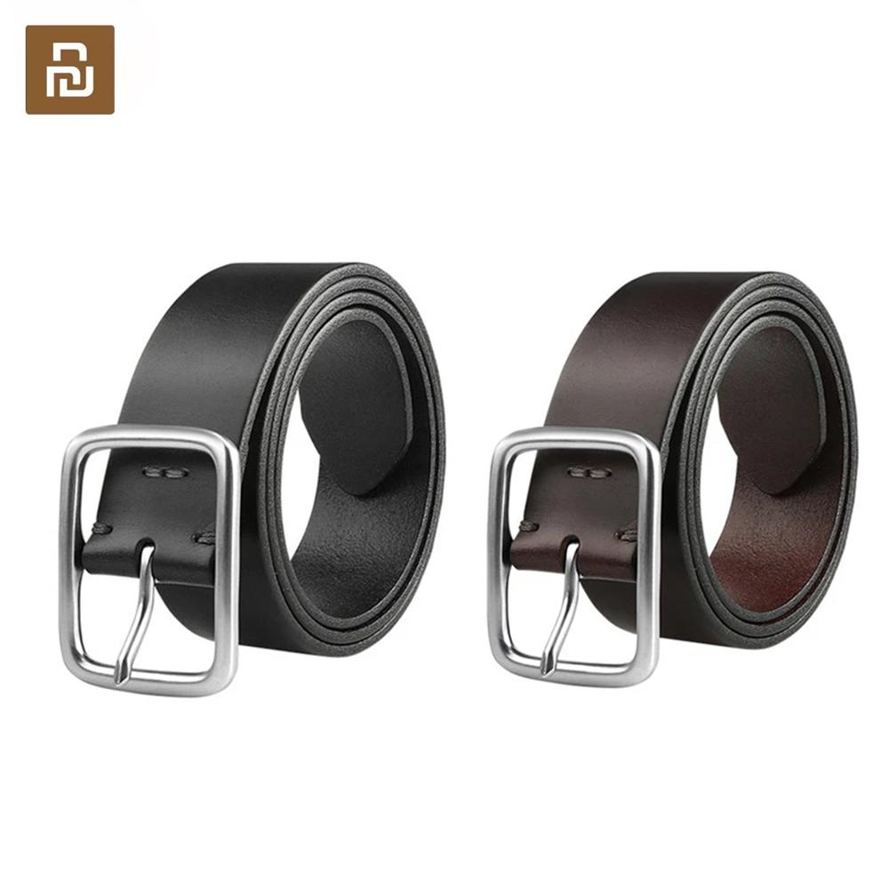 Youpin Qimian 100% Leisure Cow Leather Belt Fashion Five Hole 38mm Width For Man Alluminum Buckle Best Gift Best Quality