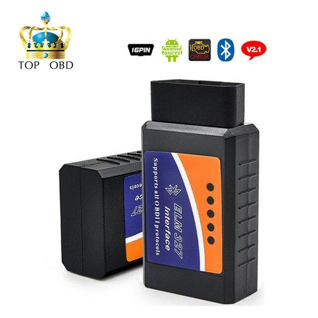 Super Mini Elm327 Bluetooth OBD2 V2.1 Elm 327 V 2.1OBD 2 Car Diagnostic Tool Scanner Elm 327 OBDII Adapter Auto Diagnostic Tool|Code Readers & Scan Tools|   - AliExpress