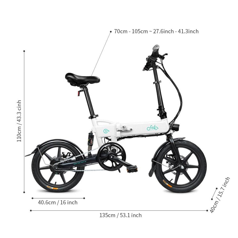 FIIDO D1 D2 D2s D3 D3s Smart 7.8AH/10.4A складной электрический велосипед мопед двойные дисковые тормоза светодиодный передний светильник для электровелосипеда - 2