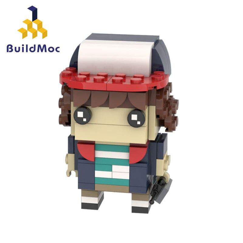 Buildmoc – figurine TV Stranger Things, tête de film onze Will Mike Dustin modèle Demogorgon, kits de blocs de construction, jouets en brique
