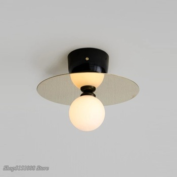 Скандинавские светодиодные потолочные светильники, итальянский дизайнерский современный потолочный светильник, медная Золотая лампа для ...