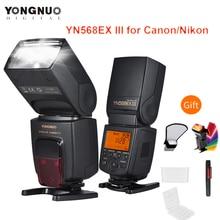 YONGNUO YN568EX YN 568EX III TTL kablosuz HSS Canon 1100d 650d 600d Nikon DSLR kamera uyumlu YONGNUO ücretsiz hediyeler ile