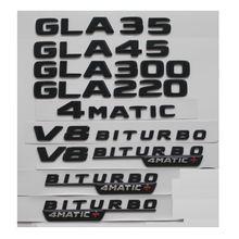 Блестящие черные эмблемы для mercedes benz w156 gla35 gla45
