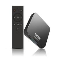 Mecool km9 pro android 9.0 smart tv caixa de controle voz quad núcleo braço cort 4 gb ddr4 ram 32 gb rom 2.4g/5g wifi bt4.1 4 k conjunto caixa superior Conversor de TV     -
