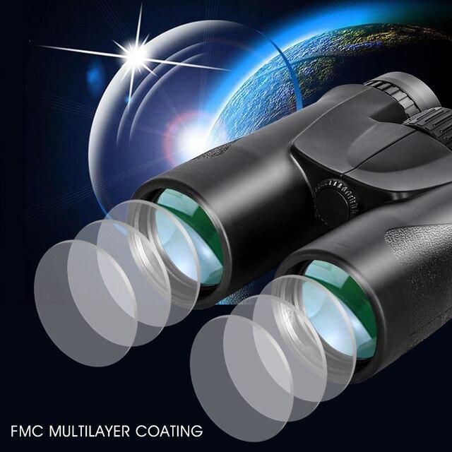 10x42 Binoculars Hunting and Tourism BAK4 Prism FMC Coating HD Low Light Night Vision Professional Powerful Military Telescope 3