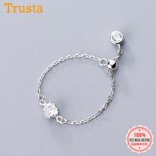Trustdavies – bague en argent Sterling 925 véritable pour femme, bijou à la mode, doux et éblouissant, en CZ, grande taille, pour fête de mariage, DS1096