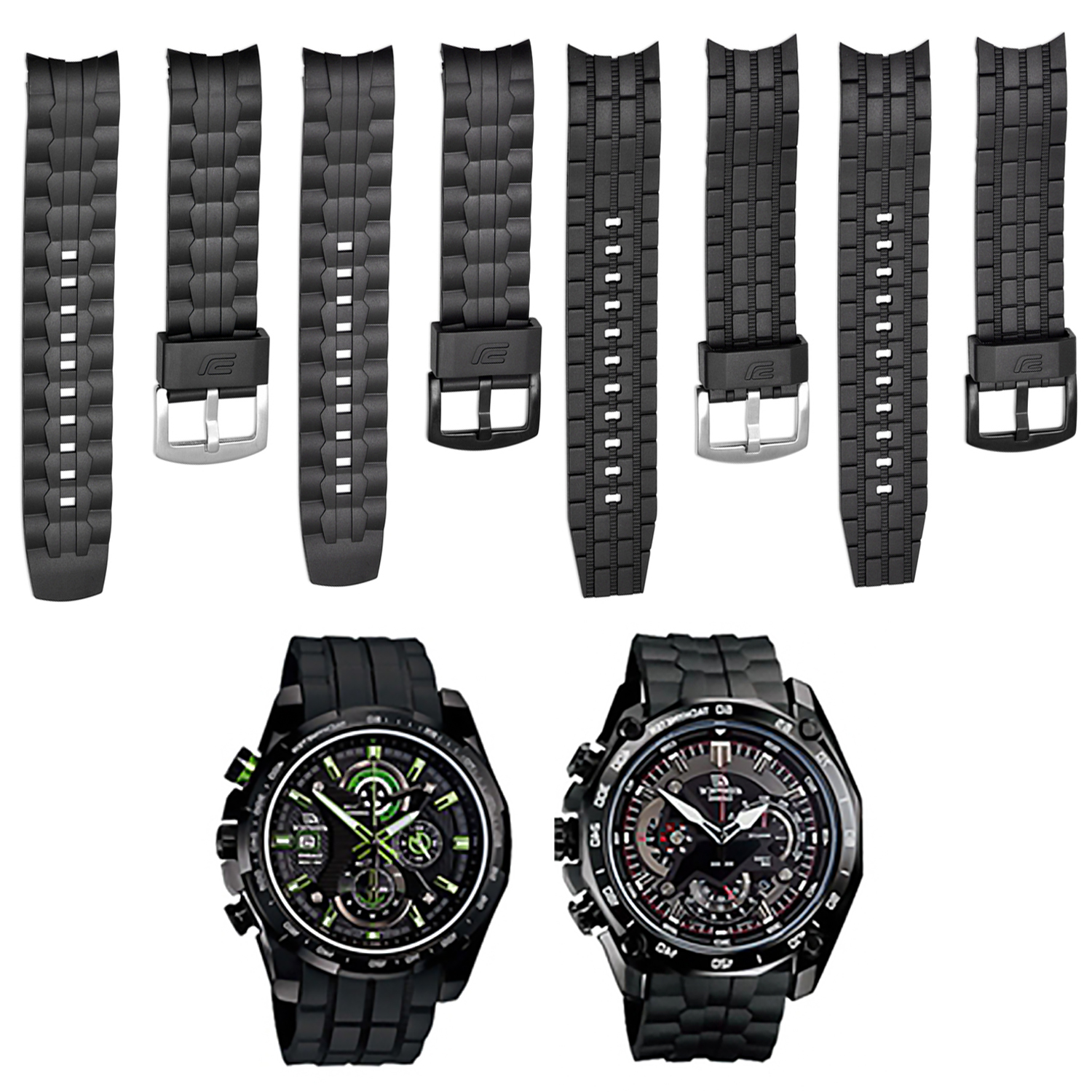 Gosear Replacement Watch Strap Band Belt Adjustable Breathable Wristband for Casio Edifice EF-550 EF-523 Watch Accessories