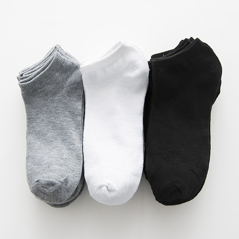 5/10 Pairs Women Low Cut Cotton Socks Casual Spring Lady Boat Socks Short Black White Students Girls Boat Socks