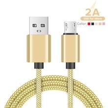 Ycdc micro cabo usb 2a rápida sincronização de dados cabo de carregamento para samsung huawei xiaomi lg htc andriod microusb cabos do telefone móvel