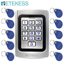 RETEKESS T-AC04 Keypad Door Access Control system IP68 Waterproof Metal case Silicon Security Entry Door Reader RFID 125Khz EM