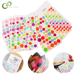 18Pcs/lot DIY Creative Colorful Stars hearts Dots Stickers Album Stickers Diary Planner Journal book Sticker toys for kids YJN