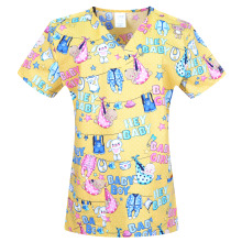 New midwife  scrub uniforms  scrubs tops  for women with 4 pockets in 100% cotton