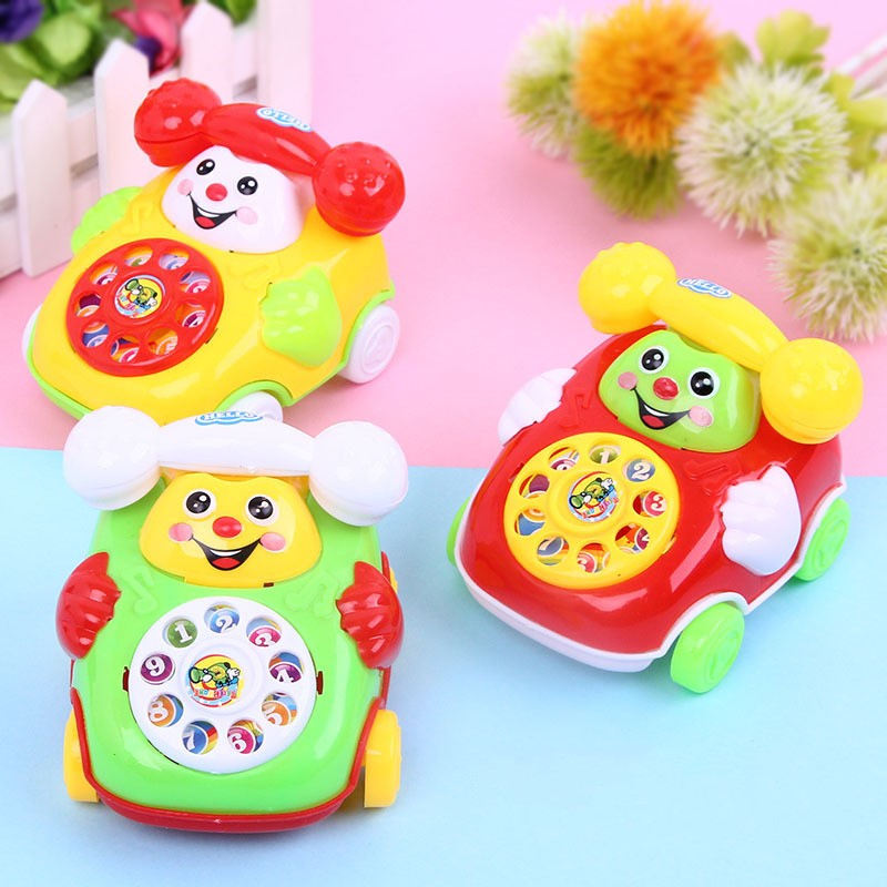 Children's Simulation Phone Toys Kids Baby Cartoon Pull Line Phone Gift Develop Intelligence Education Toys For Children Kids