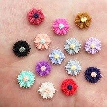 Crafts Appliques-Ornaments Flower Daisy Flatback-Stone Wedding Resin DIY 10mm Scrapbook