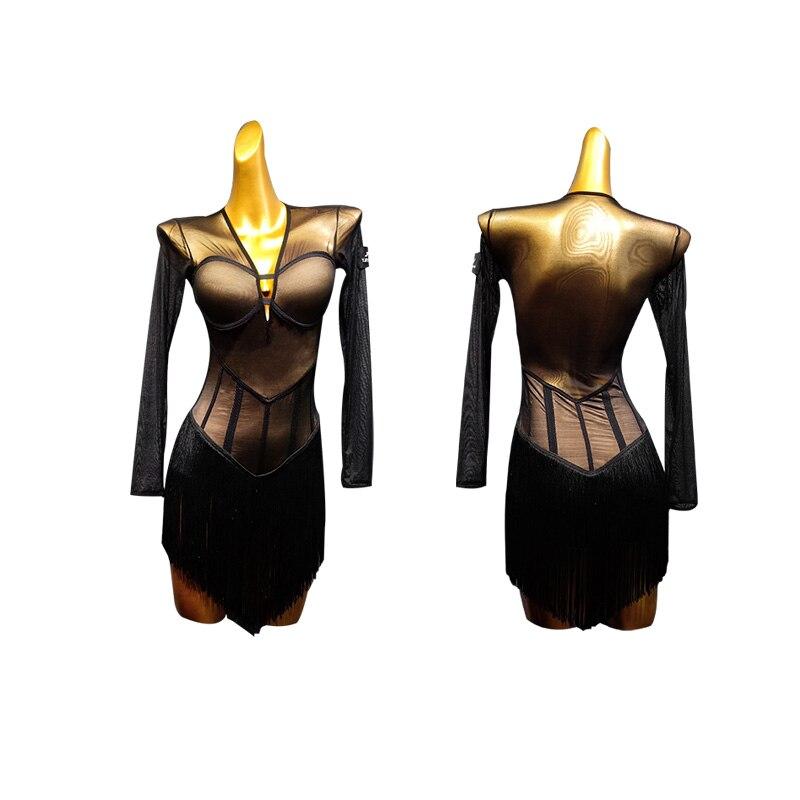 sexy latin dance dress women samba costumes latin dress women tassel latin salsa dress pole dance dress jazz costumes