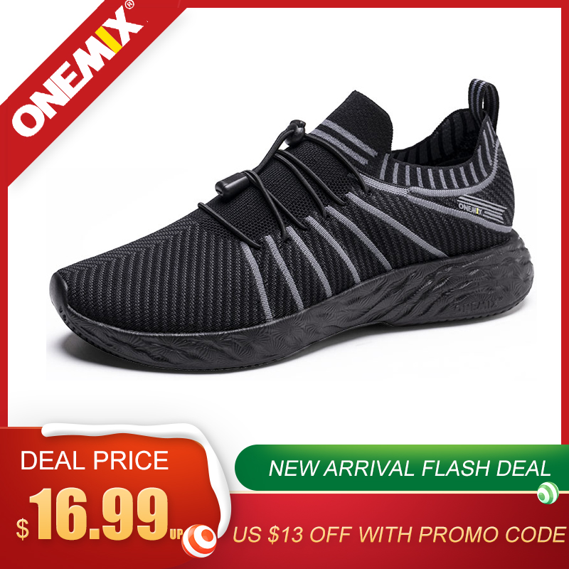 ONEMIX Men <font><b>350</b></font> Breathable Mesh Running <font><b>Shoes</b></font> Fashion Sock Sneakers Outdoor Yezzys <font><b>Boost</b></font> Slip-On Soft Casual Jogging <font><b>Shoes</b></font> image