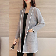Wanita Jaket dan Mantel 2019 Feminin Fashion Musim Dingin Longgar Liar Elegan Jaket Sweater Coat Cardigan Mantel(China)