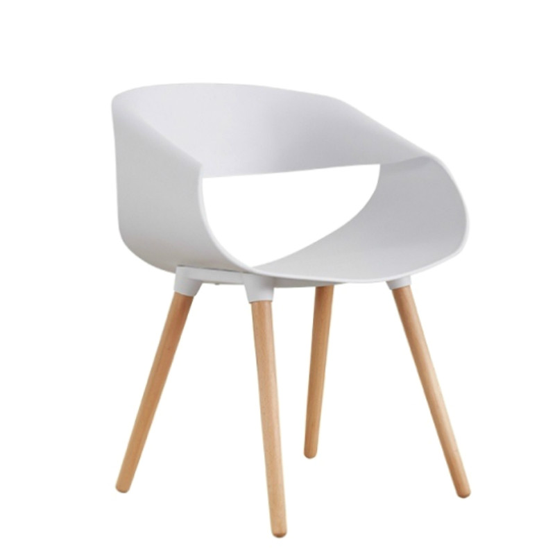 White Chair Creative Fashion Simple Modern Backrest Stool Sales Office Negotiation Table And Chairs Nordic Chair