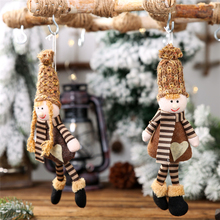 2019 Xmas new year DIY Christmas tree decorations for home Knit hat boy girl with foot pendant christmas Little doll hanging