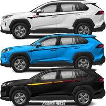 FOR Toyota RAV4 2019-2020 sticker Lahua RAV4 body decoration modified car sticker film color bar