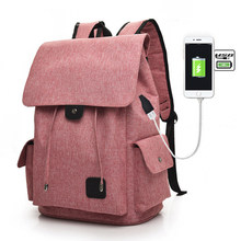 Hot Women Man Laptop Backpack USB Charging Computer Backpacks Casual Large Capacity School Bags Travel Backpack Woman Back Pack(China)