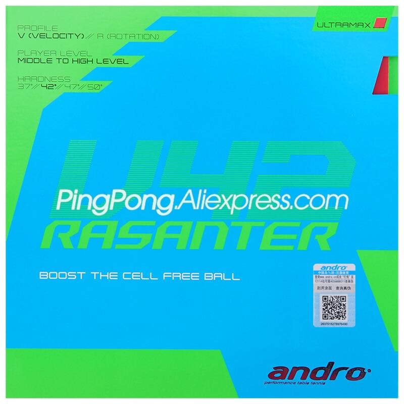 Andro RASANTER V42 Table Tennis Rubber Pips-In Original ANDRO V42 Ping Pong Sponge