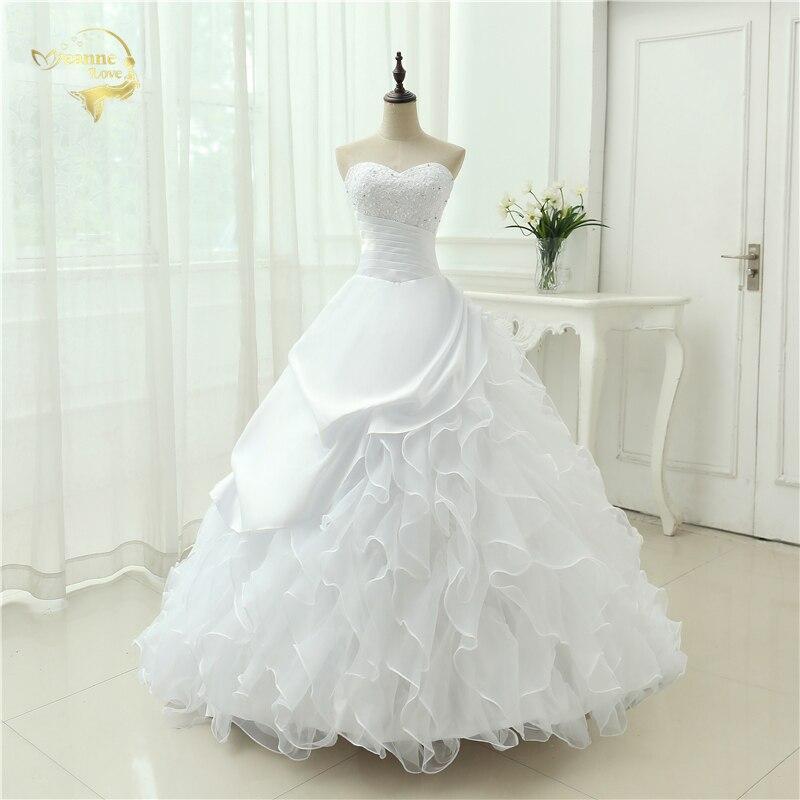 Classic Style Vestidos De Noiva A Line Robe De Mariage Strapless Applique Bridal Gown Wedding Dress 2019 Chapel Train YN0120