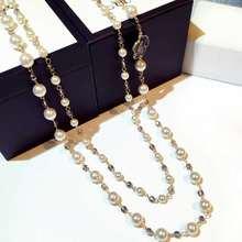 Классическое Двухслойное жемчужное ожерелье камелии для женщин