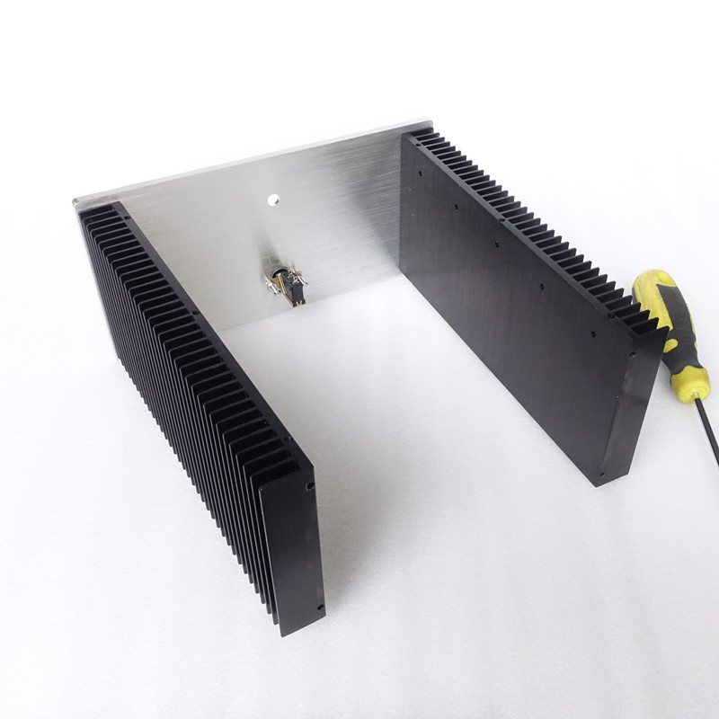 Brzhifi bz2412c radiador duplo caso de alumínio
