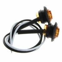 50 X 3/4 Round Amber LED Bullet For Truck Trailer Side Clearance Marker Light