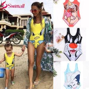 Child Kids Baby Girls 2019 one piece swimsuit 3D cartoon Children swimwear Monokini summer beachwear swim suit hot Biquini(China)