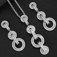 GODKI Luxury Link Chain สร้อยคอชุดต่างหูดูไบชุดเครื่องประดับหมั้นแต่งงาน brincos Para AS mulheres 2019