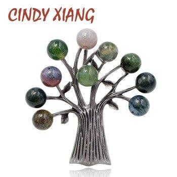 Женская винтажная брошка CINDY XIANG, 3 цвета, на выбор, высокое качество, 2018