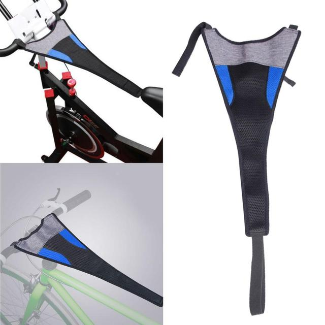 Indoor MTB Bike Trainer Frame Bicycle Sweat Cover Guard Net Catcher Absorbs Sweat Strap Protection Turbo Trainer Elastic Belt 3