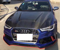 A6 S6 RS6 Real Carbon Fiber Car Front Bumper Engine Hoods Cover For Audi A6 S6 RS6 2012 2013 2014 2015 2016