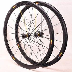 Новый ультра-светильник 700C Из углеродного сплава 40 мм, дорожный велосипед, обод из алюминиевого сплава, набор велосипедных принадлежностей,...