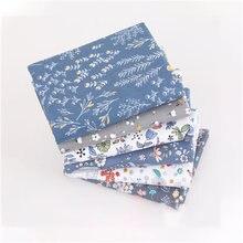 Хлопчатобумажная ткань с принтом 6 цветов 25x20 см
