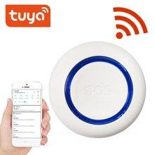 Tuya inteligente wifi sos botão de pânico embutido bateria, alarme para idosos/grávidas/crianças, usb carregamento notificação instantânea