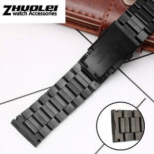 Image 3 - גבוהה באיכות רצועת עבור DZ4318 4323 4283 4309 מקורי סגנון נירוסטה רצועת השעון זכר גדול שעון מקרה צמיד 26mm שחור