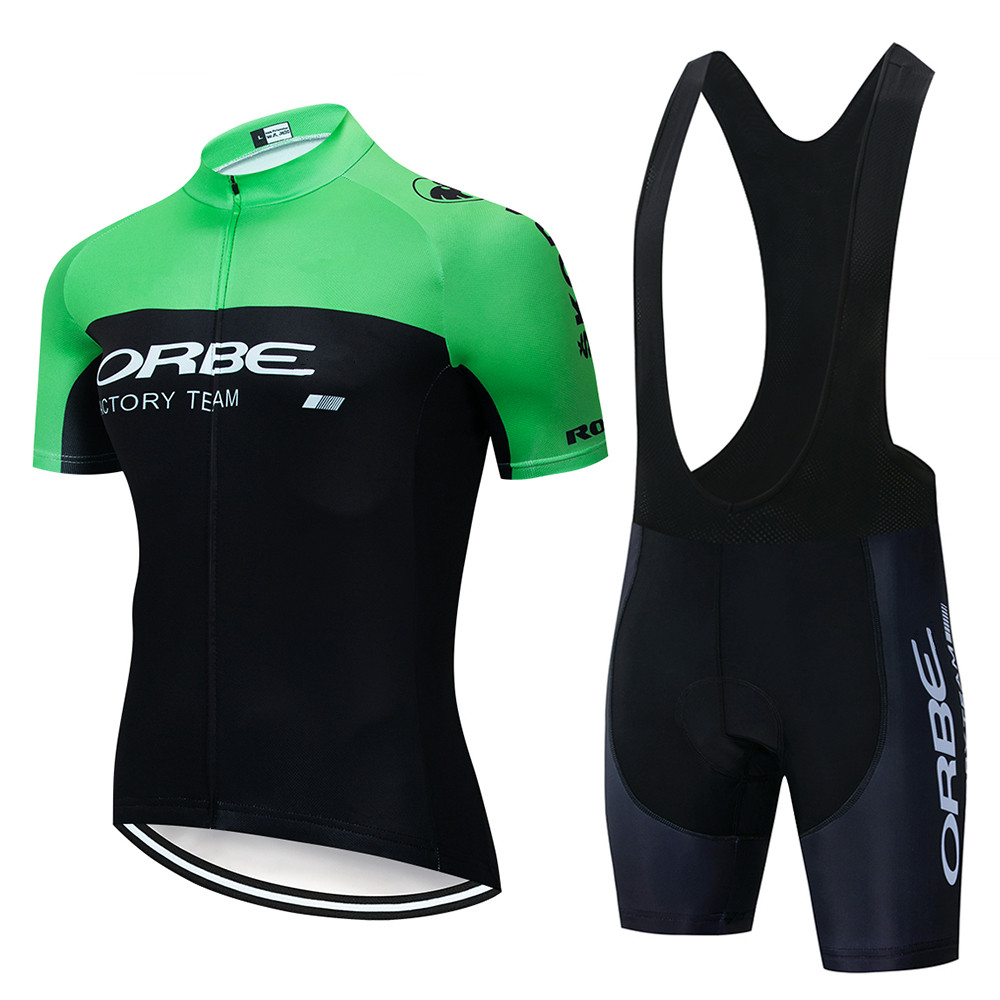 ORBE Cycling Kits Men 2020 Beginner Cycling Jersey Sweatshirt Ropa Bicicleta Short Sleeve Riding Clothes Rode Bike Bib Suits