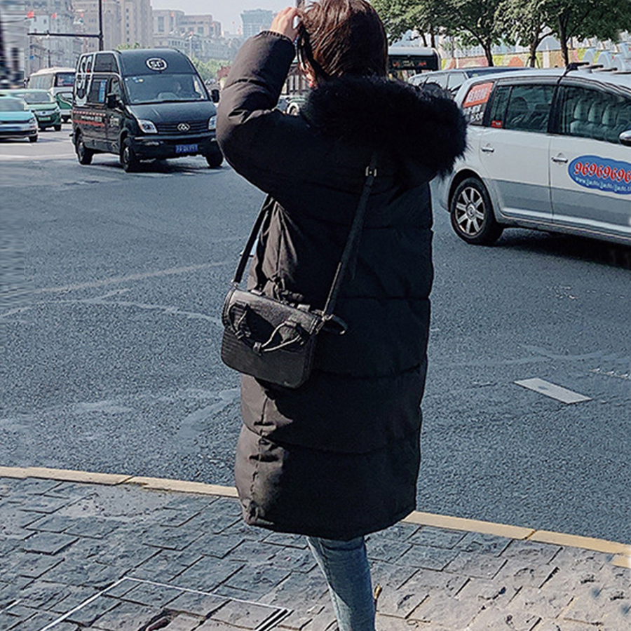 Casual Long Winter Parka Coats Hooded Down Jacket Women Solid Zipper Plus Size Female Jackets Harajuku Thicken Warm Coat Outwear