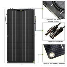 لوحة شمسية عالية الجودة بولي 100 واط لوح مرن للطاقة الشمسية 12 فولت بلاسا الشمسية المصنعين في الصين أدوات منزلية للطاقة الشمسية 200 واط 300 واط 400 واط