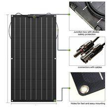 Высокое качество панели солнечных батарей поли 100 Вт гибкие панели солнечных батарей 12 В placa Производители солнечных батарей в Китае домашние наборы солнечных батарей 200 Вт 300 Вт 400 Вт