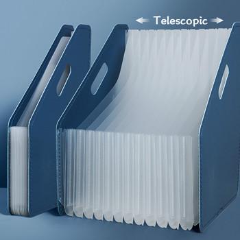 A4 biurko Folder dokument Organizer do papieru uchwyt do przechowywania wielowarstwowe rozszerzenie pudełko szkolne materiały biurowe o dużej pojemności tanie i dobre opinie Plik skrzynka Przypadku 45cm x 27cm 2020158 Show as the pictures Paper Organizer Bag Expanding File Folder Desk file folder organizer