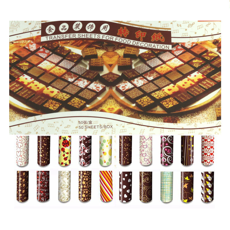 "10 pcs Flower Chocolate Transfer Sheets DIY Cake Decoration Paper 13/"" x 8 1//4/"""